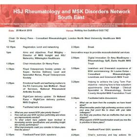 HSJ Rheumatology and MSK Disorders Network - South East
