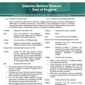 HSJ Diabetes Mellitus Network - East of England