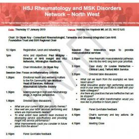 HSJ  Rheumatology and MSK Disorders Network - North West