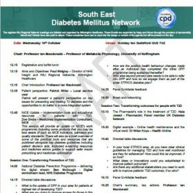 South East Diabetes Mellitus Network 10 October Agenda