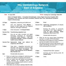 HSJ Dermatology Network - East of England
