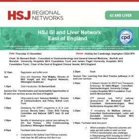 GI and Liver Network - East of England 13 December 2018