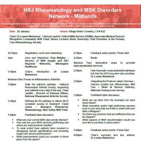 HSJ Rheumatology and MSK Disorders - Midlands