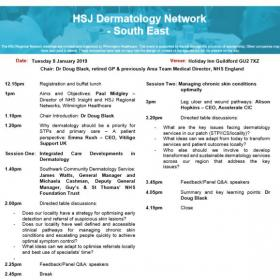 HSJ Dermatology South East Network January
